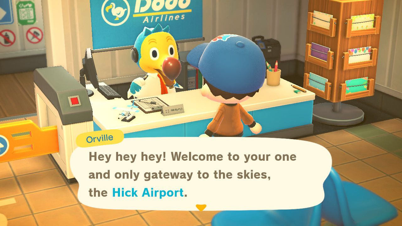 Speaking to Orville in Animal Crossing: New Horizons