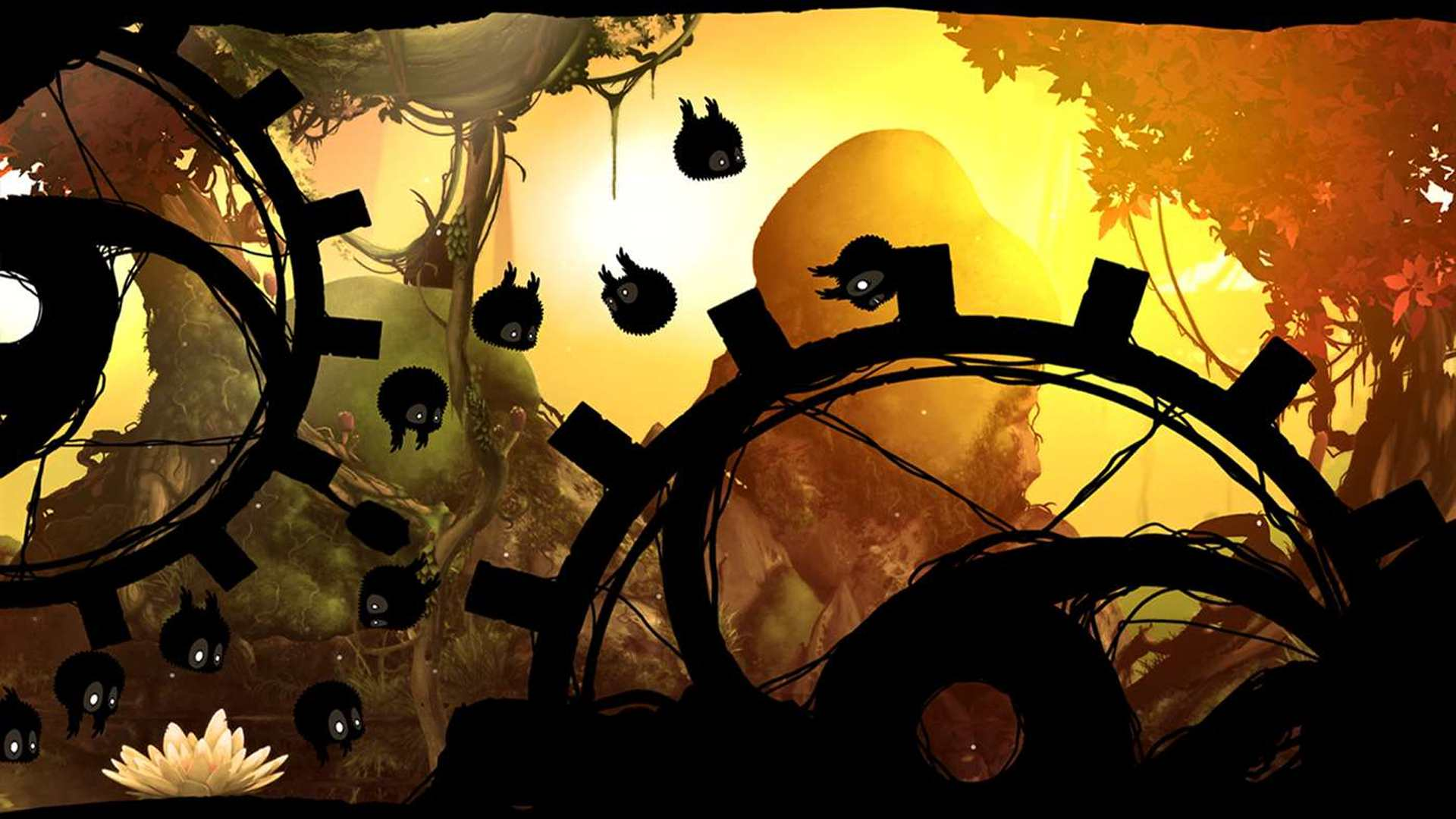 Badland multiplayer video game on iOS, Android, and Windows Phone.