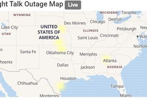 Straight Talk outage map from Outage.Report