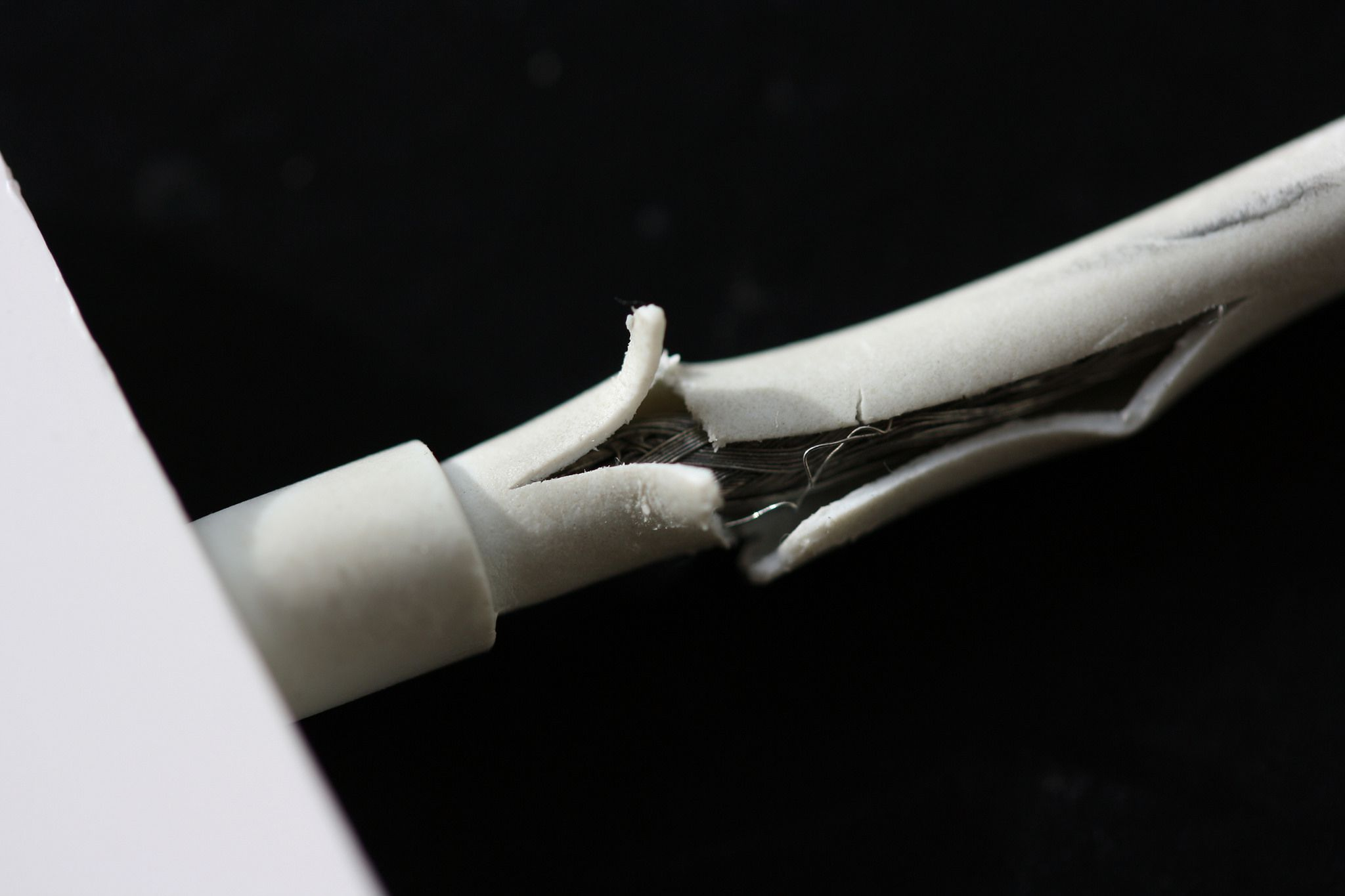 broken iphone cable