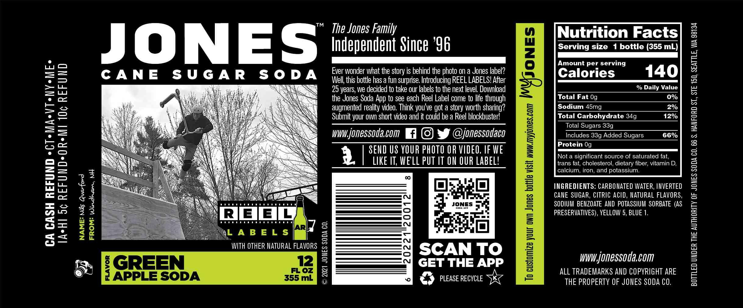 Jones Soda AR Label