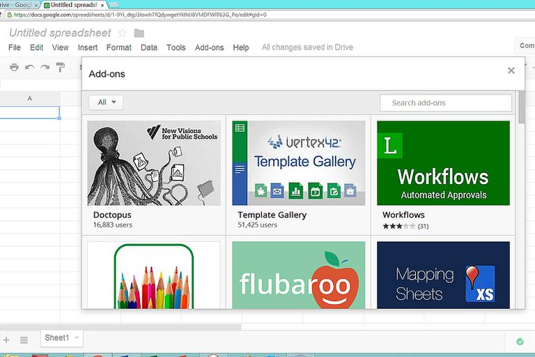 Google Apps Add-Ons for Education screenshot
