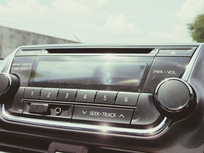 Close-up Of Mp3 Player In Car