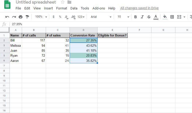 Select Google Sheets cells where you want to move a conditional formatting rule