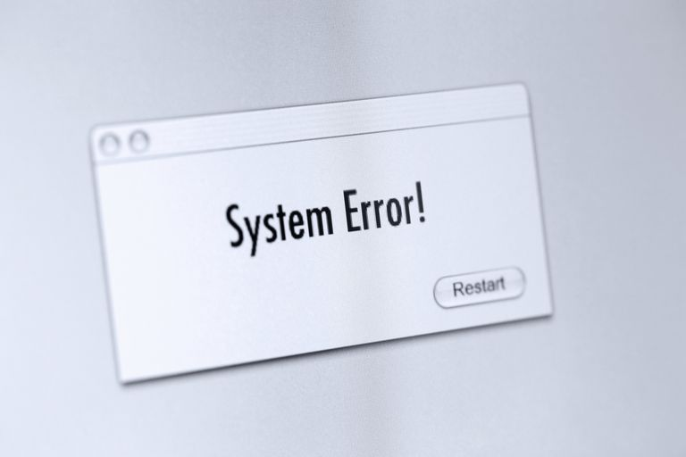 System Error! message