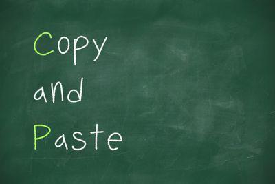 Copy and paste handwritten on school blackboard