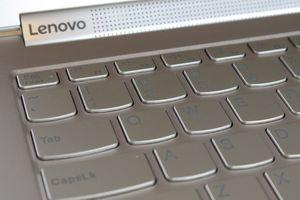 Lenovo laptop keyboard close-up