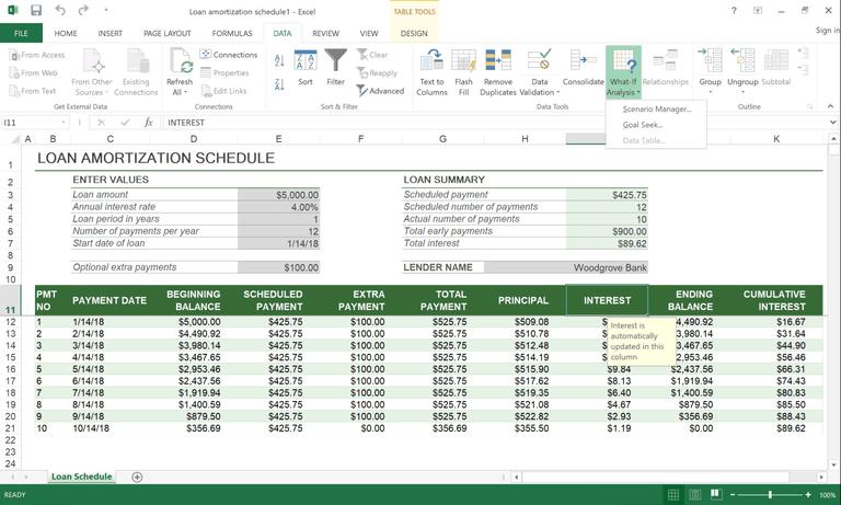 Excel Goal Seek