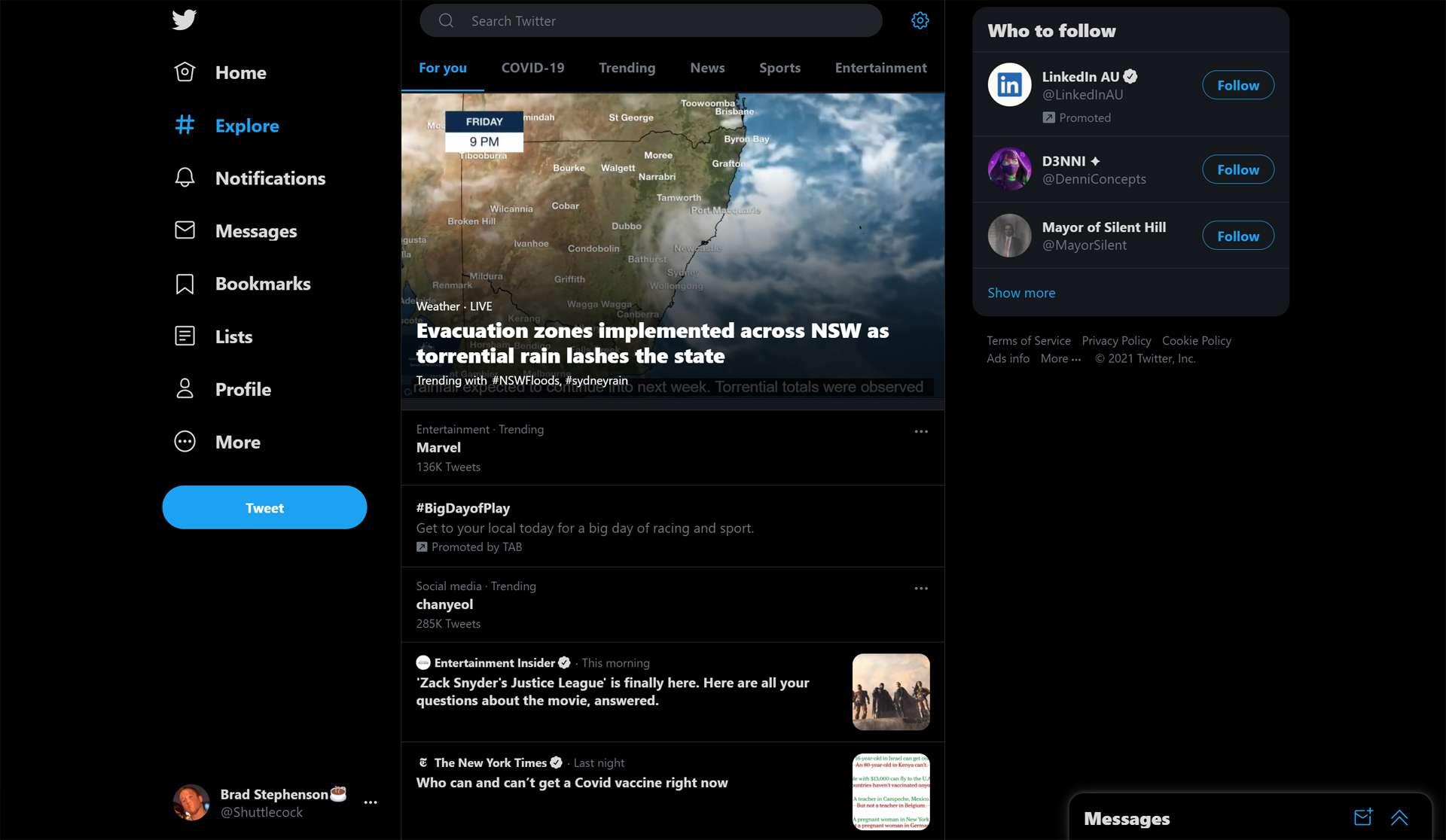 Twitter social media news site.
