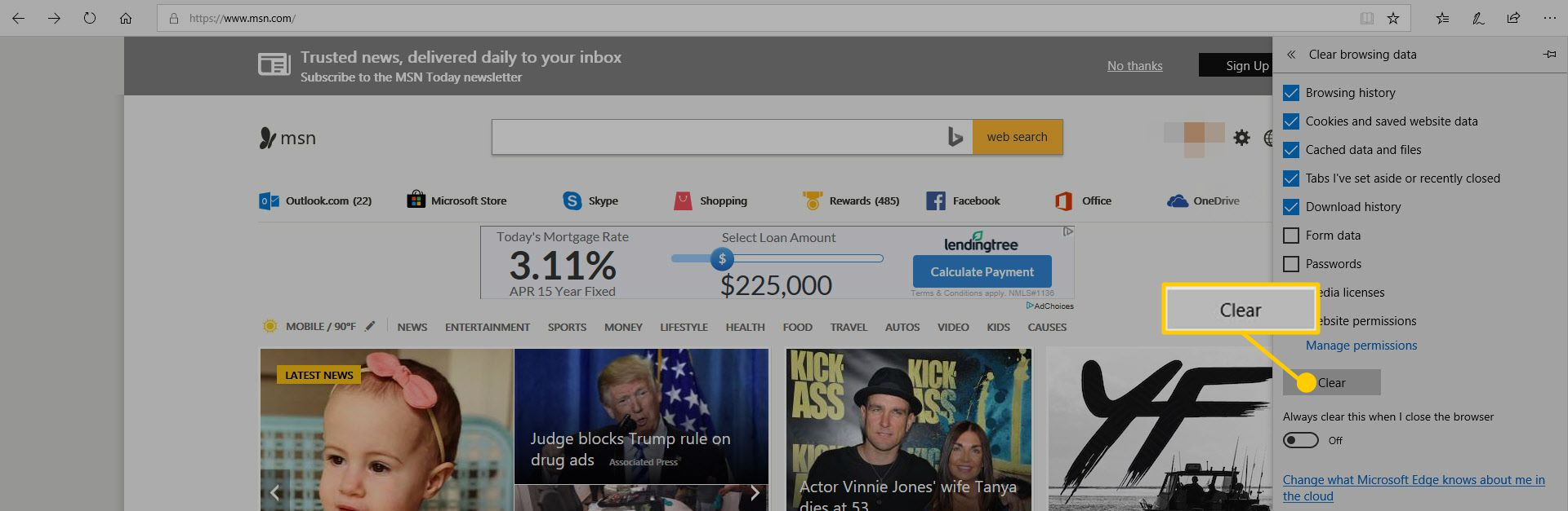 Manage and Delete Browsing Data in Microsoft Edge
