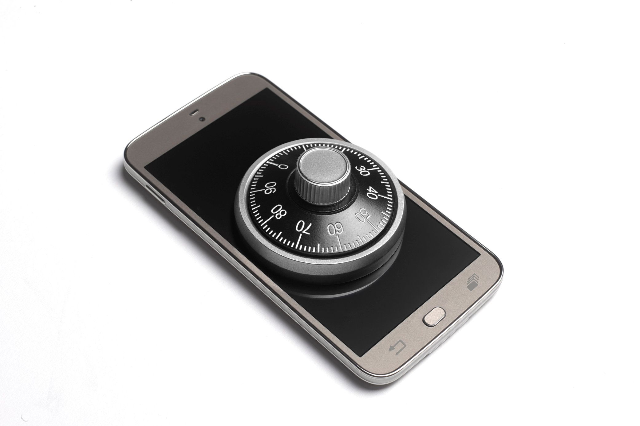 Locked cell phone