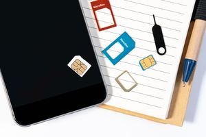 SIM card and smartphone image