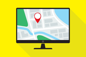 Finding location of phone on computer