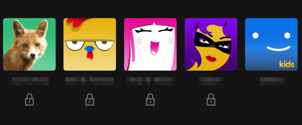 Netflix profile list