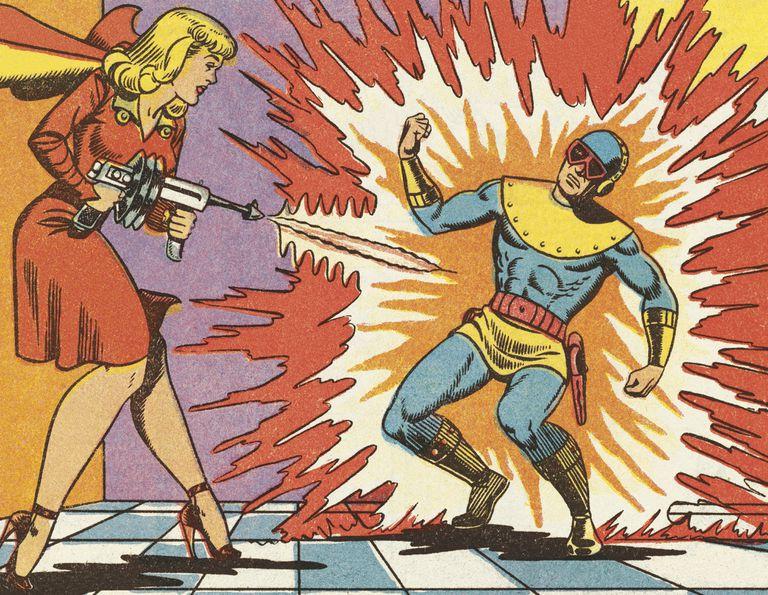 Comic book scene