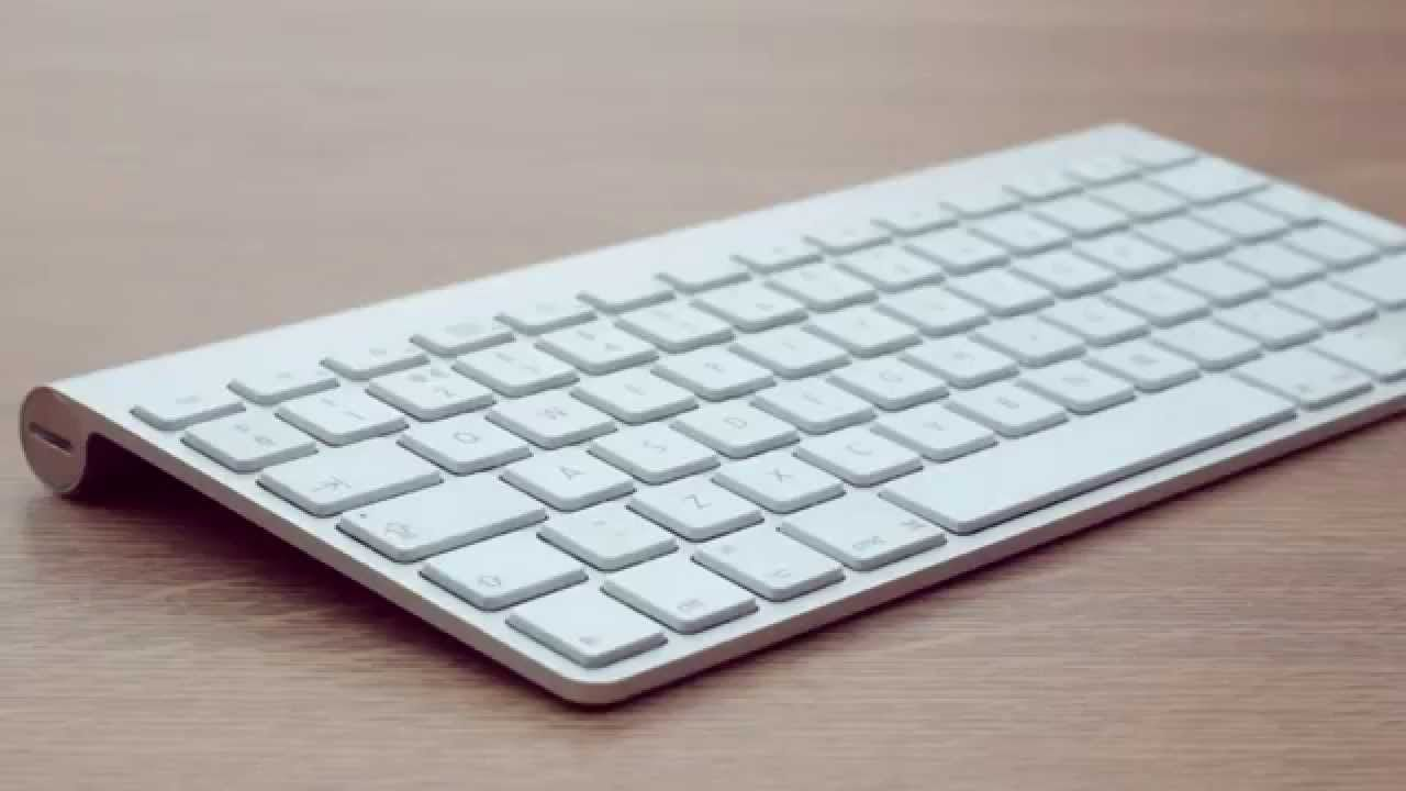 Photograph of an Apple wireless keyboard