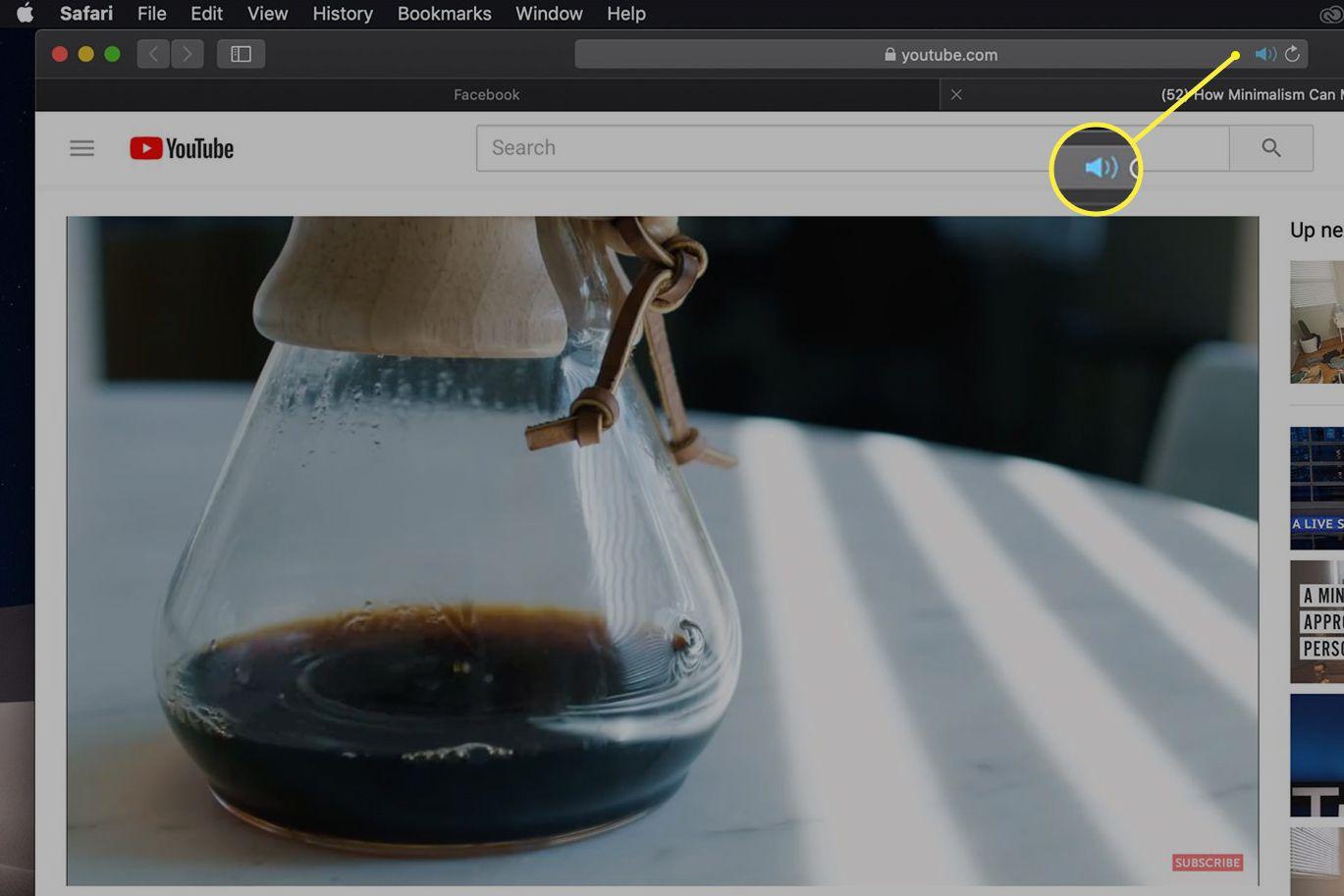 Speaker icon in Safari tab