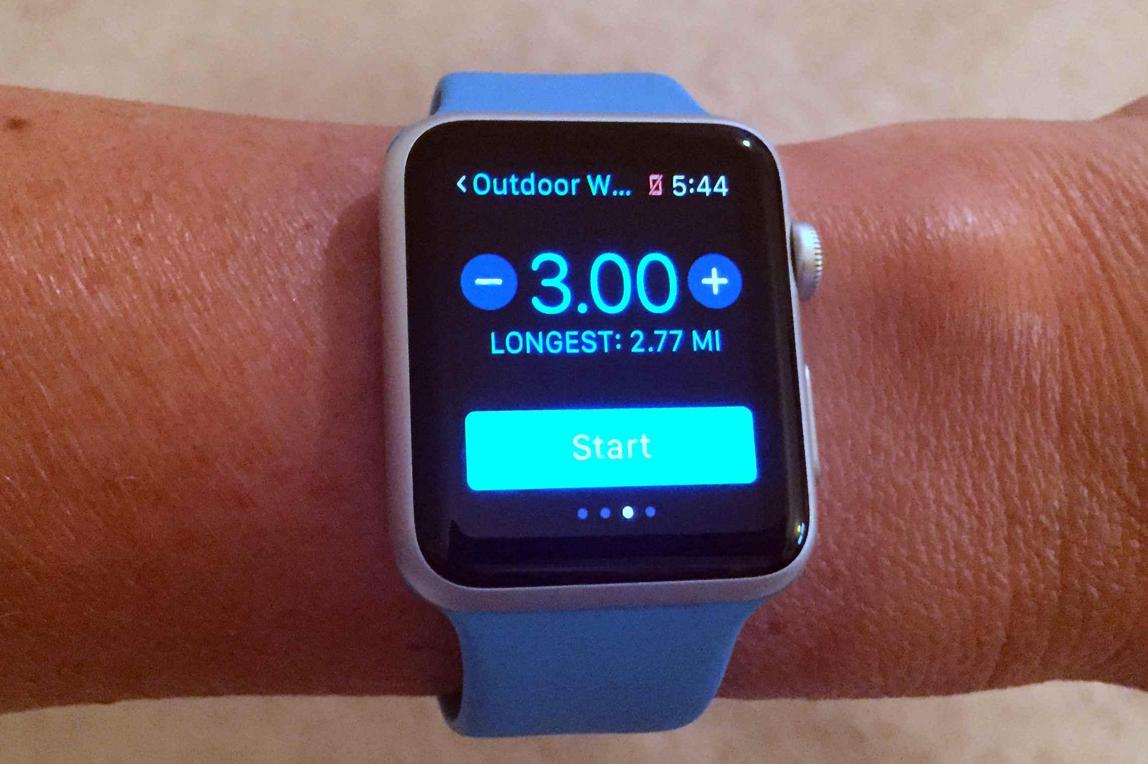 Apple Watch Workout app.
