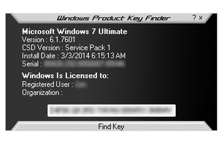 find windows 7 key finder