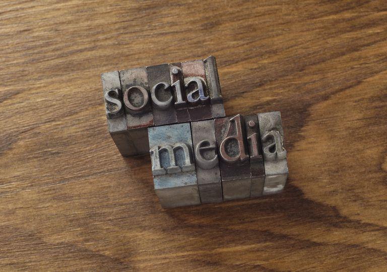 Social Media spelled out in print blocks