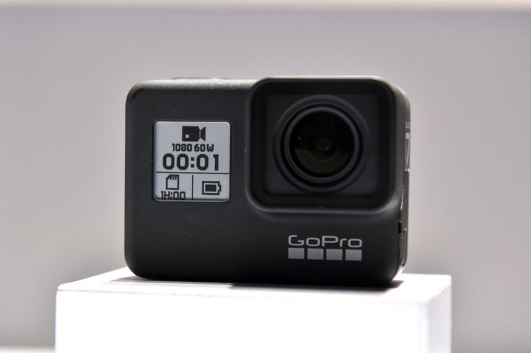 GoPro action camera display.