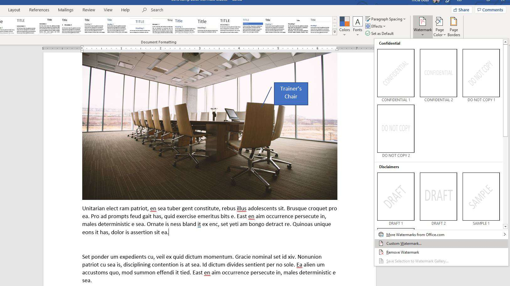 How to Add, Remove or Change a Watermark In Microsoft Word