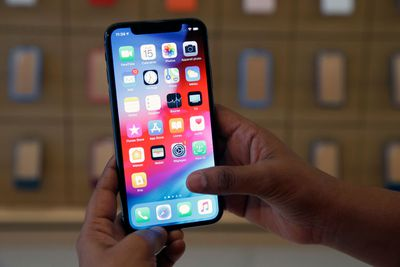 iPhone X with Safari browser