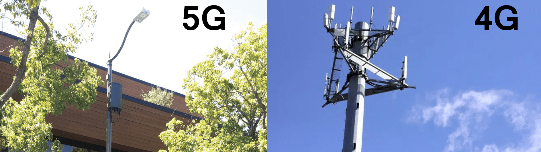 5G vs 4G cell tower