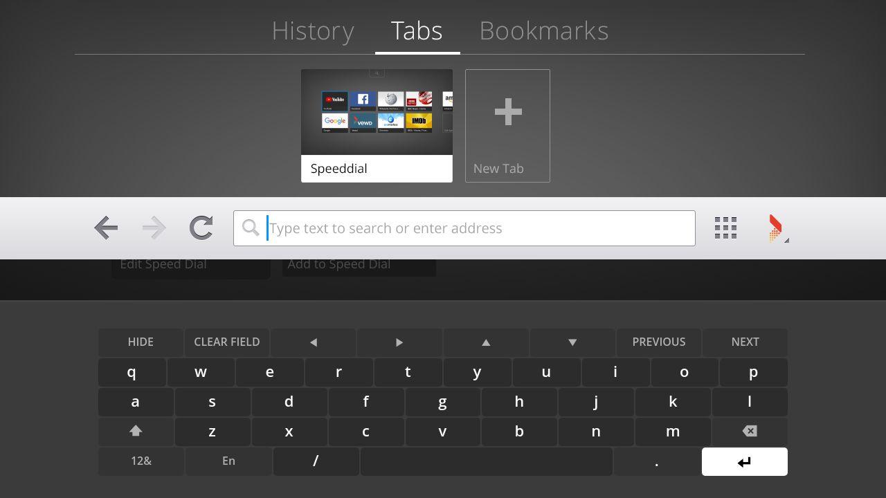 VEWD Browser – Keyboard