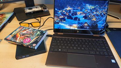 Playing a DVD on an HP laptop with an external drive