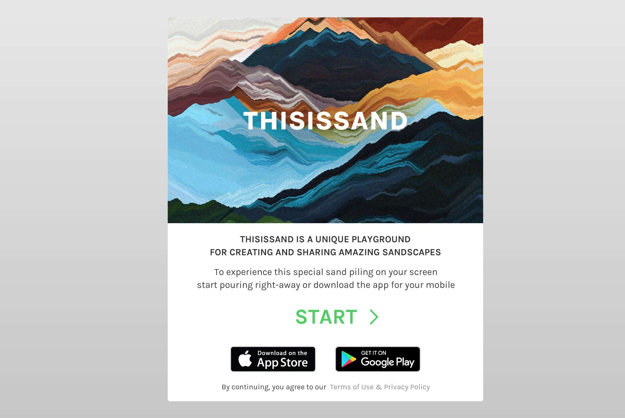 ThisIsSand homepage