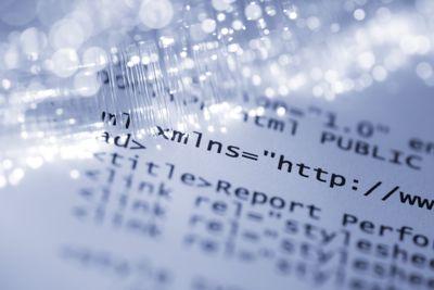 close up of HTML code