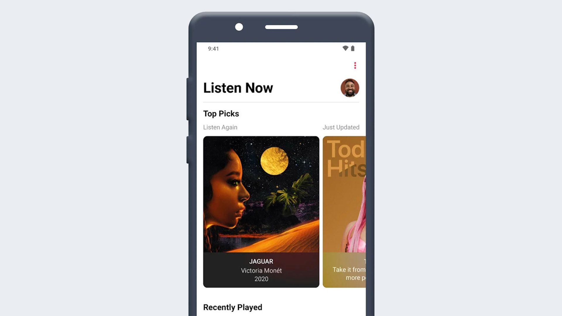 Apple Music app on an Android phone