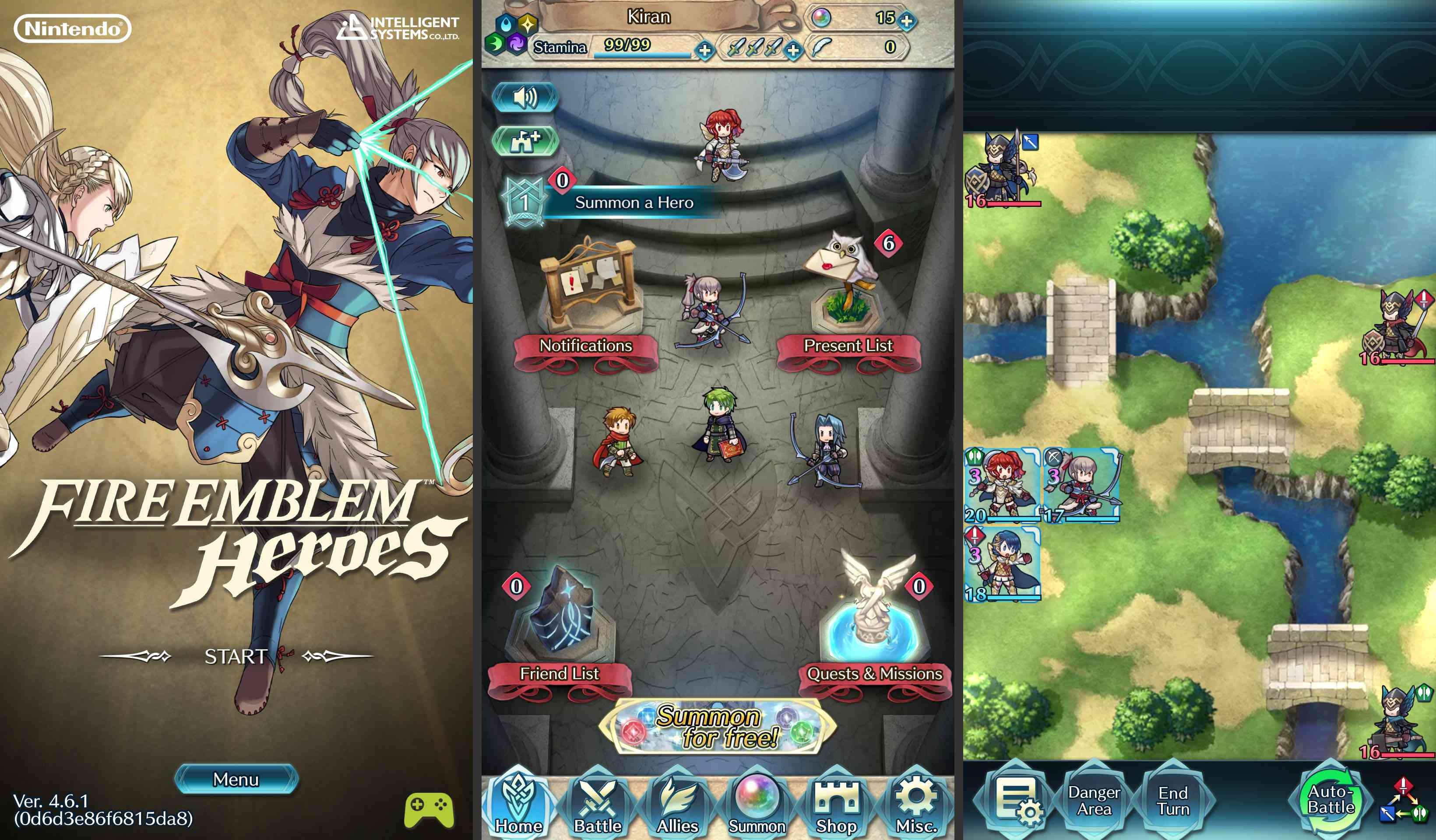 Screenshot from Fire Emblem Heroes for Android
