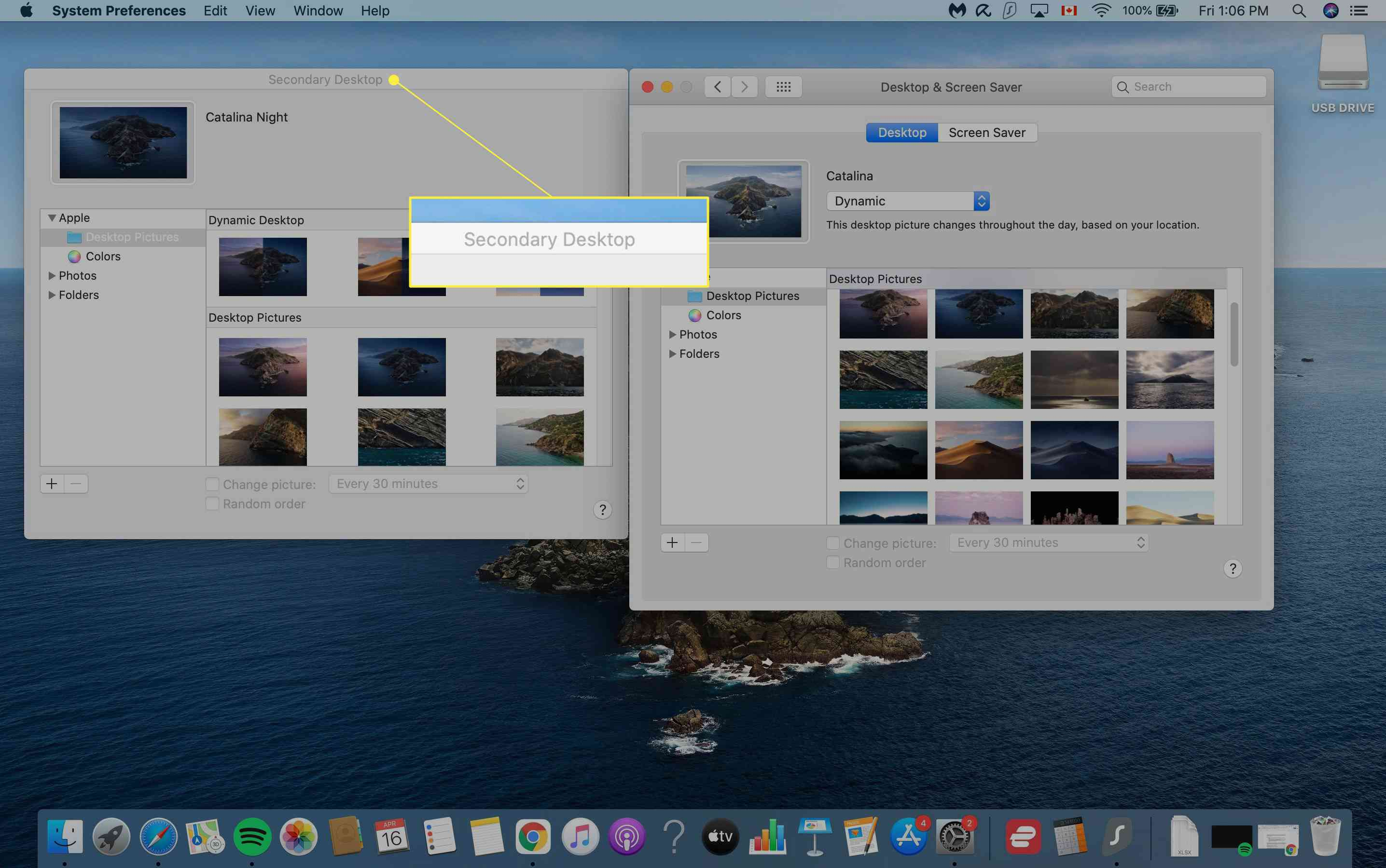Mac background image selection window with