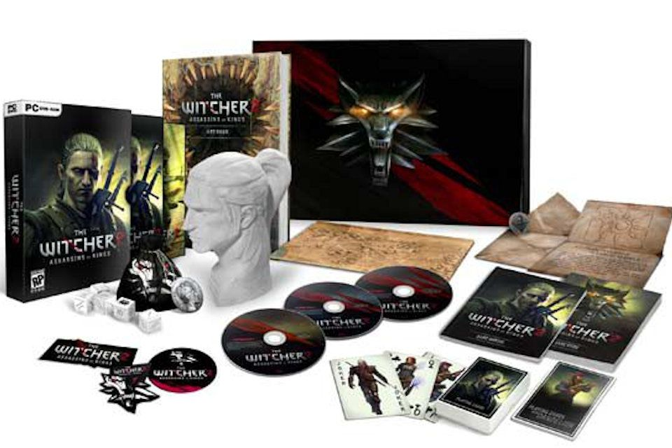 The Witcher 2: Assassins of Kings Collector's Edition Box and Contents
