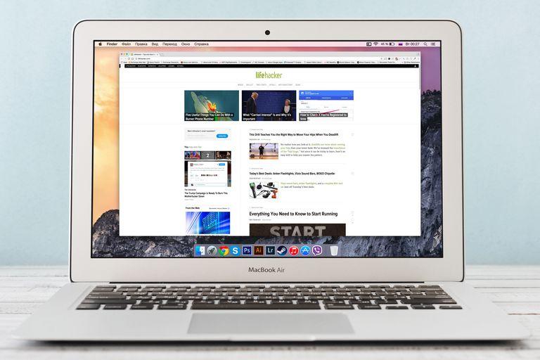 lifehacker on laptop