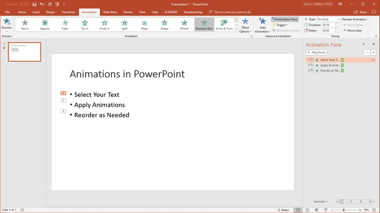 PowerPoint screen showing one slide.