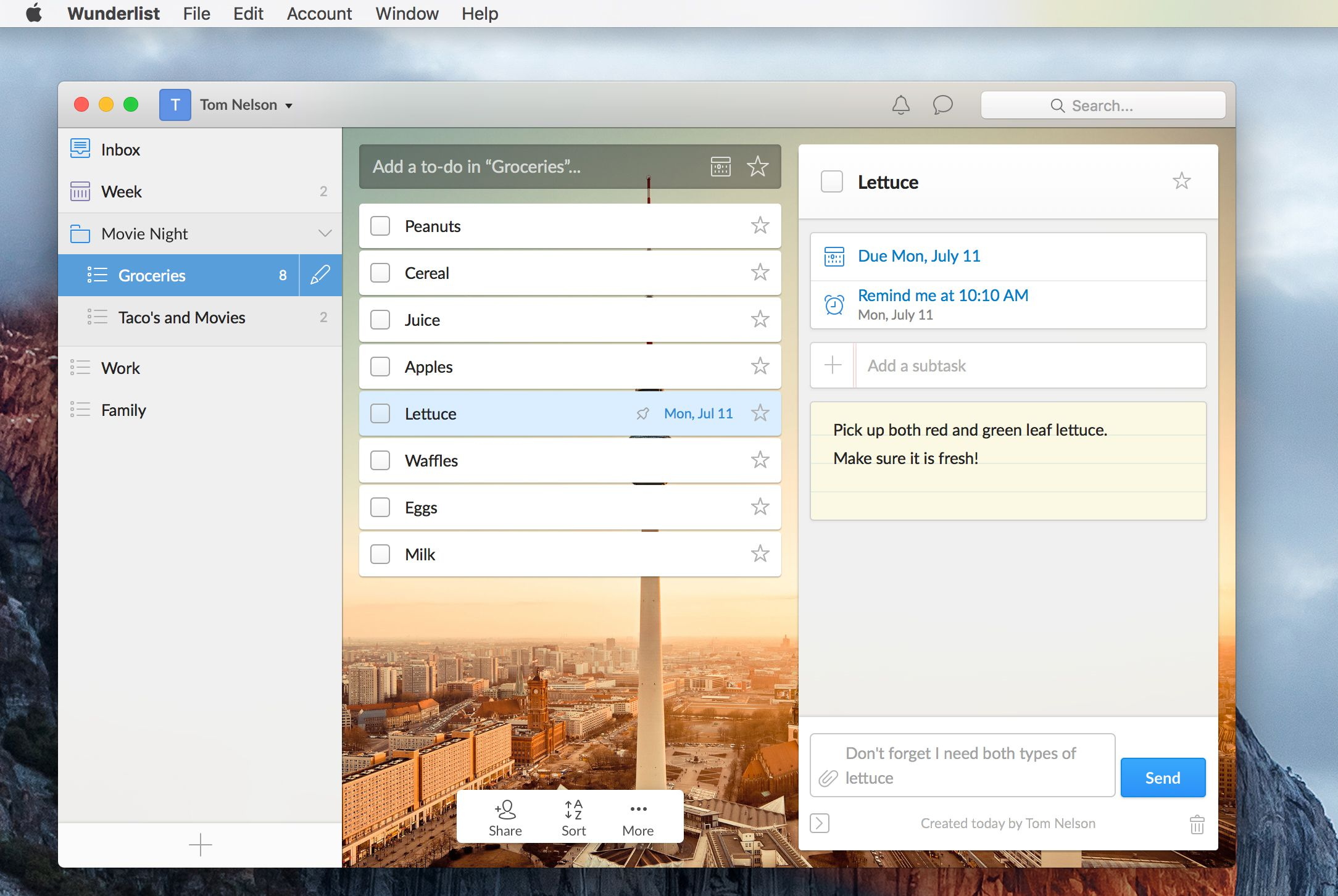 Wunderlist An Essential To Do and Task List Manager