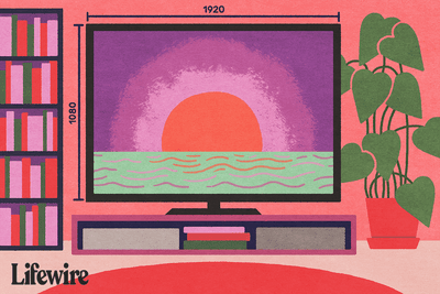 Television with pixel measurements along the side showing 1080 X 1920
