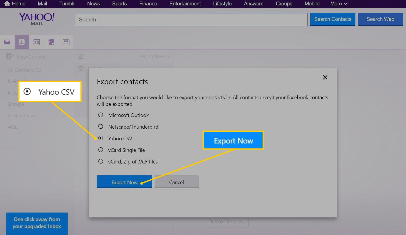 How to Export Your Yahoo Mail Address Book