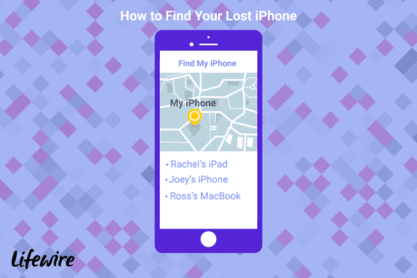AN illustration of how to find a lost iPhone using the Find My iPhone app.