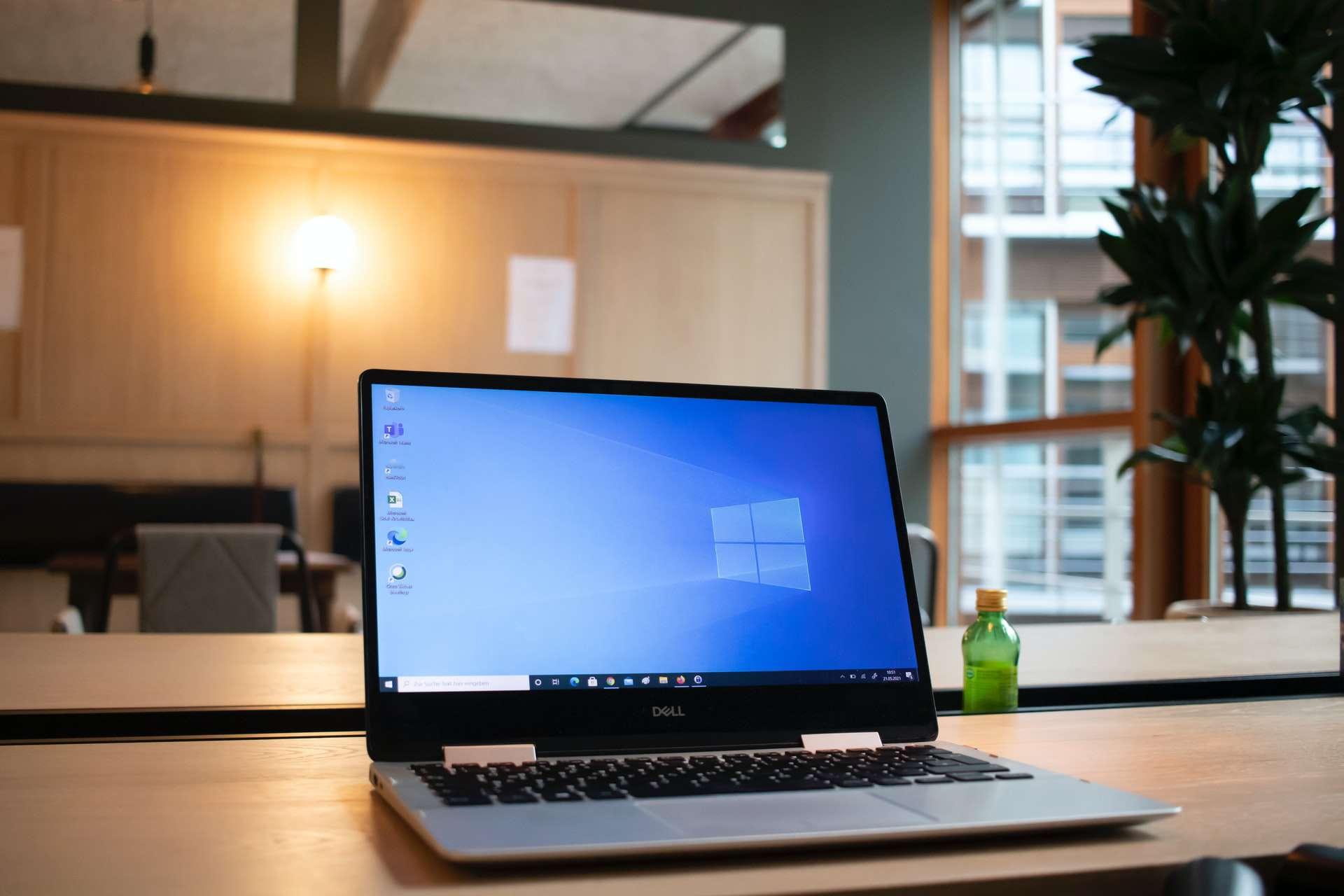 A Dell laptop running Windows 10