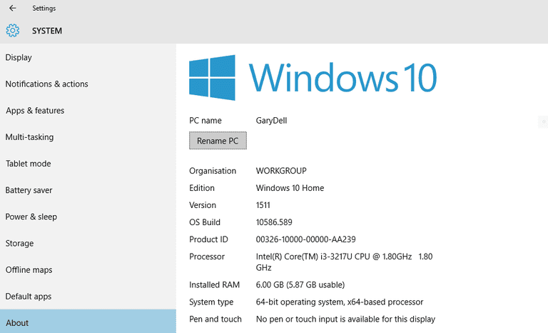 Check Your Windows Version