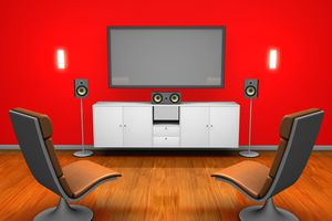 A room with surround sound