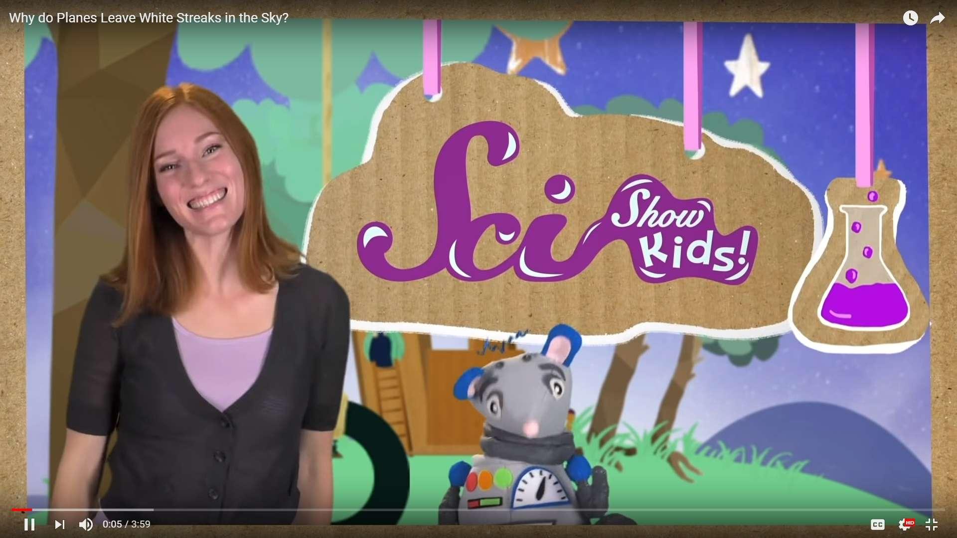 Jessi of SciShow Kids and her robot rat, Squeaks