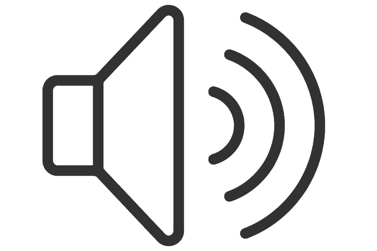 Illustration of a volume icon