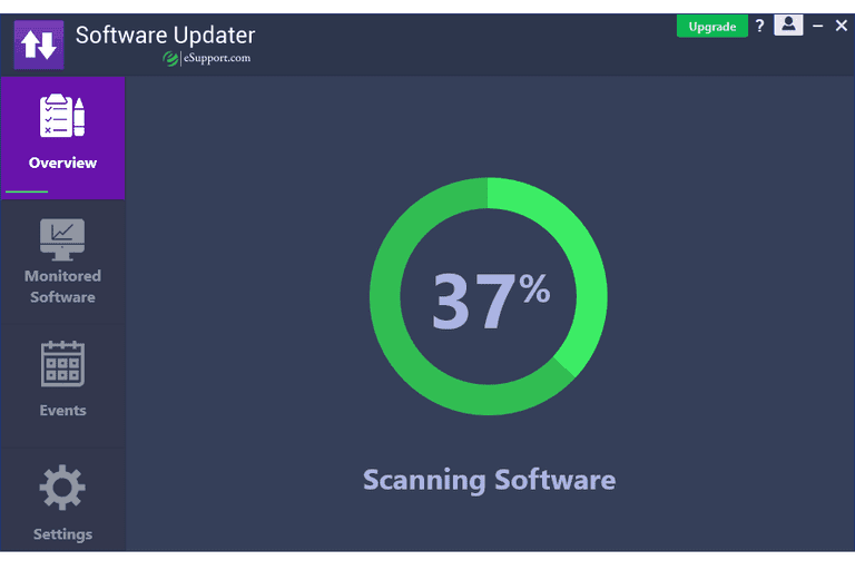 Software Updater scanning for software