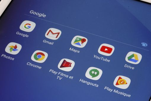 Google Mobile Services icons on a screen
