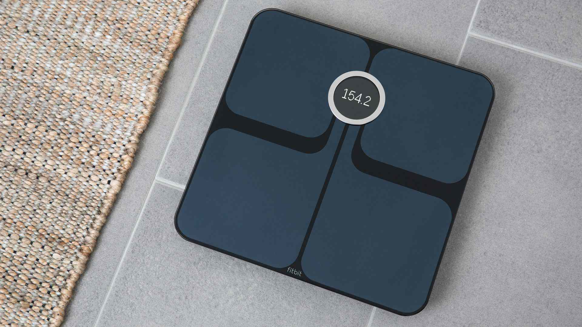 Black Fitbit Aria 2 Smart Scale